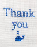 Nice phrase embroidered cross. Gratitude Thank you! Royalty Free Stock Photography