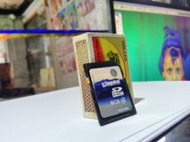 Shop Camera card mathstick stand stock photography