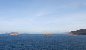Nice picture of the Cies Islands Stock Photography