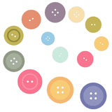 Nice picture with colored buttons on a white background. Vector Stock Photo