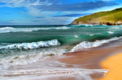 Nice picture of a seascape. Nice picture simulating an oil painting of a seascape royalty free stock photos