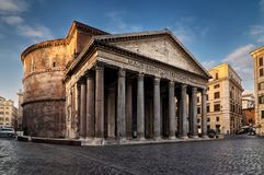 Pantheon square in Rome, Italy stock photo