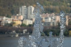 Lecco, Italy. A nice picture trough the water stock photos