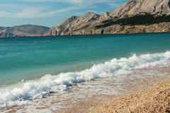 Nice picturesque beach with cristal clean water. Picturesque beach - Mediterranian Sea, Wonderful clean water Royalty Free Stock Photos