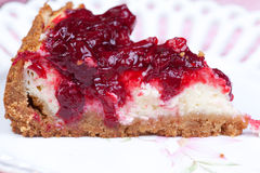 Pies of cherry cheesecake Royalty Free Stock Image