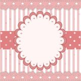Nice pink stripped icon Royalty Free Stock Photos