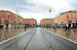 Nice - plaats Massena Royalty-vrije Stock Foto's