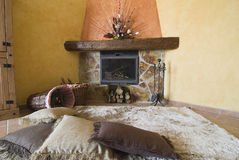 A nice place by the fireplace. Stock Image