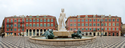 Nice - Place Massena and Apollo Stock Image