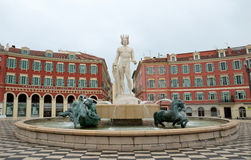 Nice - Place Massena and Apollo Royalty Free Stock Photography