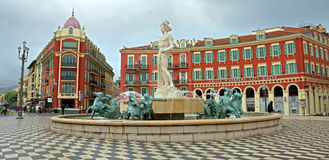 Nice - Place Massena and Apollo Stock Photo