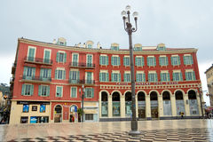Nice - Place Massena. NICE, FRANCE - APRIL 26: The Place Massena on April 26, 2013 in Nice, France. The square was reconstructed in 1979 stock photos