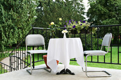 Nice place to have a coffee. Nice outdoor place to sit down and have a coffee Royalty Free Stock Image