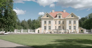 The nice place where an old manor is located in Estonia FS700 4K RAW Odyssey 7Q Stock Photos