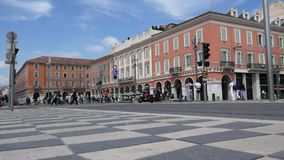 Nice - Plaza Massena stock video