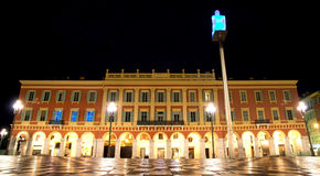 Nice - Plaza Massena at night Stock Photos