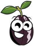 Nice plum cartoon isolated Stock Images
