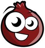 Nice pomegranate cartoon isolated Stock Photography