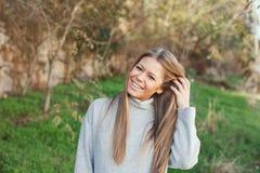 Nice portrait of blonde girl royalty free stock photo