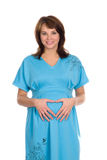 Nice pregnant woman smiling 3 Royalty Free Stock Photos