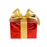 Nice present on white. Nice present  in red box on white Royalty Free Stock Photos