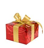 Nice present on white. Nice present  in red box on white Stock Image