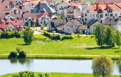 Nice private cottages Royalty Free Stock Photos