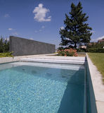 Nice private garden swimming pool Stock Photography