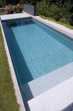 Nice private garden swimming pool Stock Images