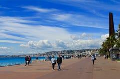 Nice promenad, Frankrike Royaltyfri Foto