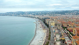 Nice - Promenade des Anglais from above Stock Photography