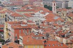 Nice, Promenade des Anglais, city, urban area, residential area, neighbourhood. Nice, Promenade des Anglais is city, neighbourhood and roof. That marvel has royalty free stock image