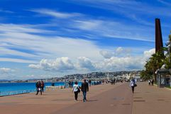 Nice,promenade,France Royalty Free Stock Photo