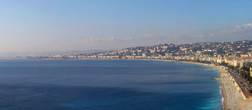 Nice Promenade Panorama Royalty Free Stock Images