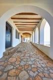 Nice promenade in a Spanish town Calella de Palafrugell in Costa Brava.  stock image