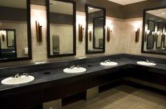 Nice public bathroom Stock Photos