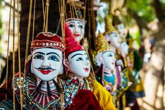 Nice puppetry. The puppetry for sale in Myanmar Stock Photo