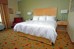 Nice quality modern hotel room Royalty Free Stock Image