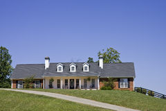 Nice Ranch House on Hill stock photography