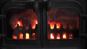 Nice Real fire with flames stock footage
