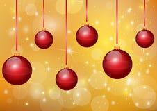 Nice red christmas balls Royalty Free Stock Image