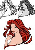 Nice red hair girl Stock Images