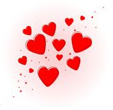 Nice red hearts for valentines day Royalty Free Stock Photos
