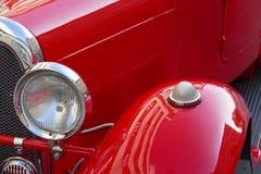 Oldtimer car. Nice red oldtimer car aero Stock Photos