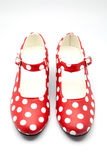 Nice red shoes Royalty Free Stock Photography