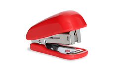 Nice red stapler. Nice modern red stapler isolated on white background stock photos
