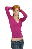 Nice redhead woman Stock Photography