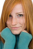 Nice redhead woman portrait Royalty Free Stock Photo
