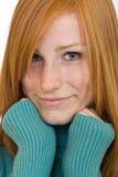 Nice redhead woman portrait Royalty Free Stock Photo