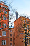 Nice residential district in Stockholm Royalty Free Stock Photography